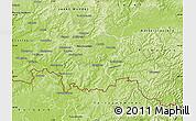 Physical Map of Saar-Pfalz-Kreis