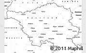 Blank Simple Map of Saarland