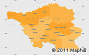 Political Simple Map of Saarland, single color outside