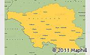 Savanna Style Simple Map of Saarland
