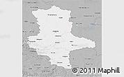 Gray 3D Map of Sachsen-Anhalt