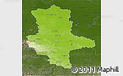 Physical 3D Map of Sachsen-Anhalt, darken