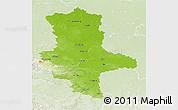 Physical 3D Map of Sachsen-Anhalt, lighten