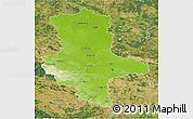 Physical 3D Map of Sachsen-Anhalt, satellite outside