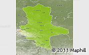 Physical 3D Map of Sachsen-Anhalt, semi-desaturated