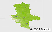 Physical 3D Map of Sachsen-Anhalt, single color outside