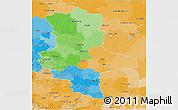 Political 3D Map of Sachsen-Anhalt