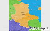 Political Shades 3D Map of Sachsen-Anhalt