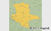 Savanna Style 3D Map of Sachsen-Anhalt