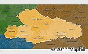 Political Shades 3D Map of Dessau, darken