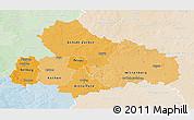 Political Shades 3D Map of Dessau, lighten