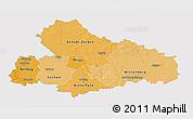 Political Shades 3D Map of Dessau, single color outside