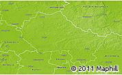 Physical 3D Map of Anhalt-Zerbst