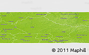Physical Panoramic Map of Anhalt-Zerbst