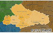 Political Shades Map of Dessau, darken