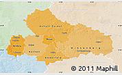 Political Shades Map of Dessau, lighten