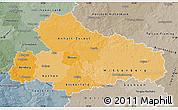Political Shades Map of Dessau, semi-desaturated
