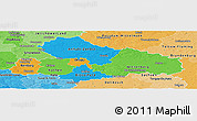 Political Panoramic Map of Dessau, political shades outside