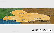 Political Shades Panoramic Map of Dessau, darken