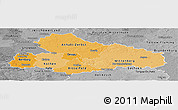 Political Shades Panoramic Map of Dessau, desaturated