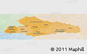 Political Shades Panoramic Map of Dessau, lighten