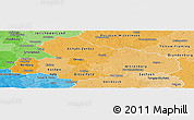 Political Shades Panoramic Map of Dessau