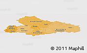 Political Shades Panoramic Map of Dessau, single color outside