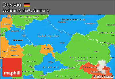Free Political Simple Map of Dessau