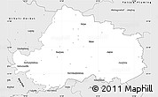 Silver Style Simple Map of Wittenberg
