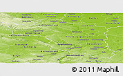 Physical Panoramic Map of Halle