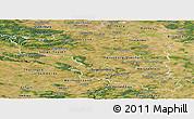 Satellite Panoramic Map of Halle