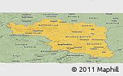 Savanna Style Panoramic Map of Halle