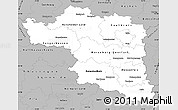 Gray Simple Map of Halle