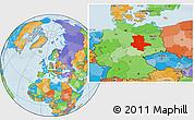 Political Location Map of Sachsen-Anhalt