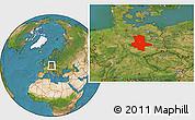 Satellite Location Map of Sachsen-Anhalt