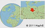 Savanna Style Location Map of Sachsen-Anhalt