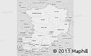 Silver Style 3D Map of Magdeburg