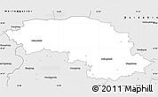 Silver Style Simple Map of Halberstadt