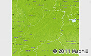 Physical Map of Jerichower Land