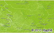 Physical 3D Map of Ohrekreis