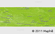 Physical Panoramic Map of Ohrekreis
