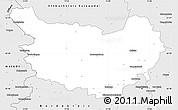 Silver Style Simple Map of Ohrekreis
