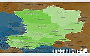 Political Shades Panoramic Map of Magdeburg, darken