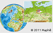 Physical Location Map of Quedlinburg, highlighted parent region, highlighted grandparent region