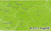 Physical 3D Map of Schönebeck