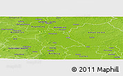 Physical Panoramic Map of Schönebeck