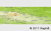 Physical Panoramic Map of Wernigerode