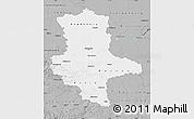 Gray Map of Sachsen-Anhalt