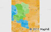 Political Map of Sachsen-Anhalt