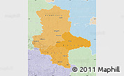 Political Shades Map of Sachsen-Anhalt, lighten